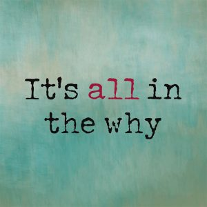 Use the 'Power of Why' to get over setbacks